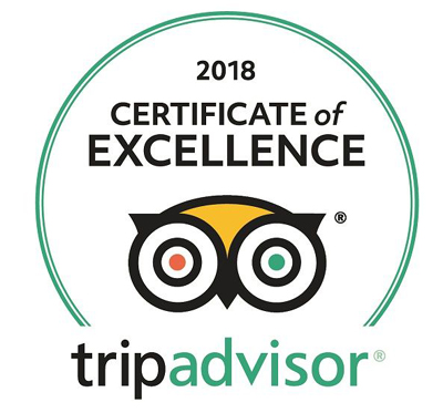 Akshi yoagashala 2018 Tripadvisor certificate