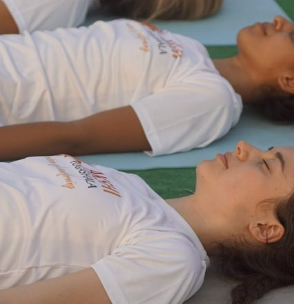 savasana or corpse pose - 200 Hr Yoga Teacher Training India